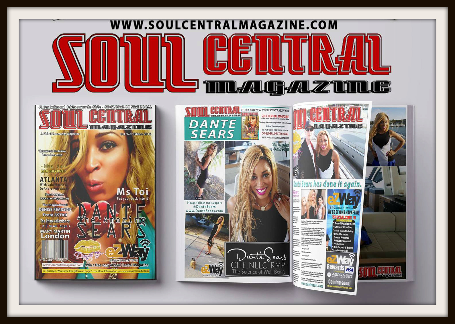 Dante Sears Cover of Soul Central Magazine