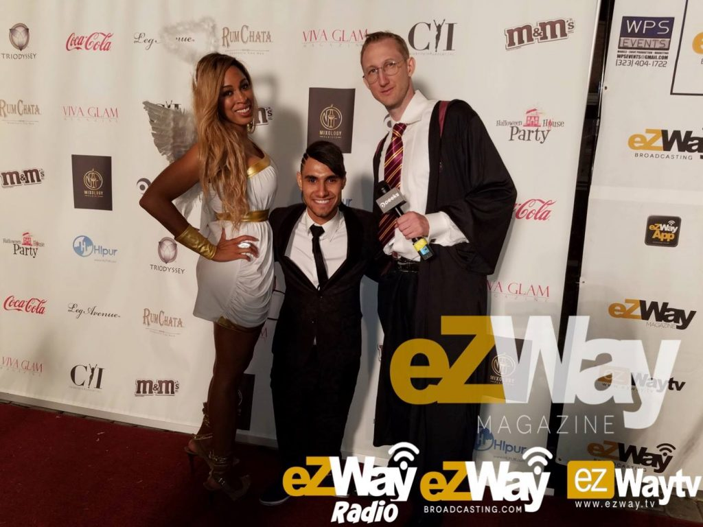 Dante Sears at Peek Halloween Party with Emannuel Kelly and Eric Zuley